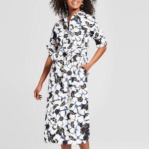Women's Long Sleeve Midi Shirtdress - Who What Wea